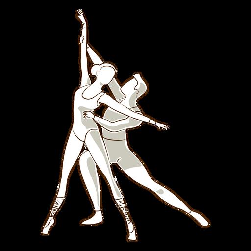 Ballet dancer ballerina posture pointe shoe tricot vector