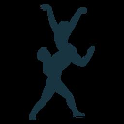 Balletttänzer-Ballerinastellungsschattenbild