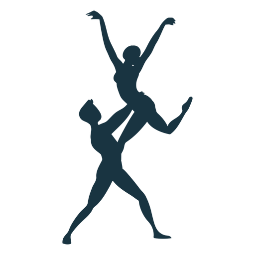 Ballet dancer ballerina posture silhouette Transparent PNG