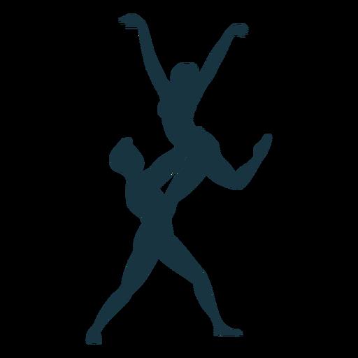 Silhueta de postura de bailarina bailarina