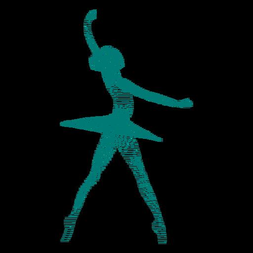 Bailarina, bailarina, saia, postura, listrado, silueta Transparent PNG