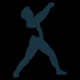 Dançarina de balé graça silhueta detalhada