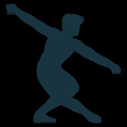 Silhueta de postura de graça de dançarina de balé