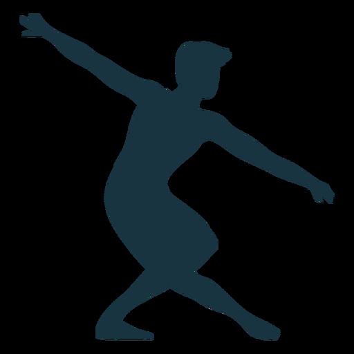 Ballet dancer grace posture silhouette