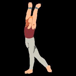 Dançarina de balé leggins plana