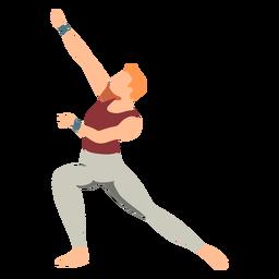 Dançarina de balé leggins postura plana