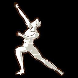 Vetor de postura de leggins de dançarina de balé