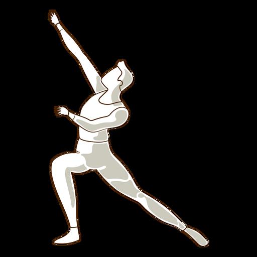 Ballet dancer leggins posture vector Transparent PNG