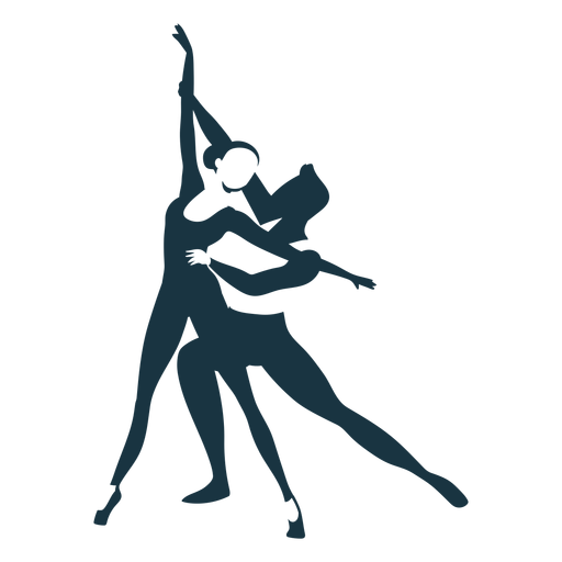 Ballet dancer posture ballerina pointe shoe detailed silhouette Transparent PNG