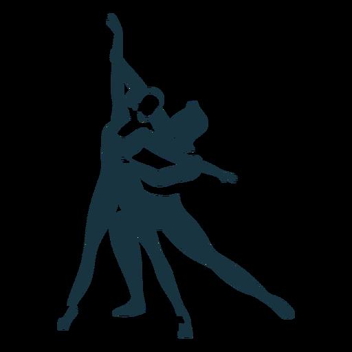 Dançarina de balé postura bailarina pointe sapato silhueta detalhada Transparent PNG
