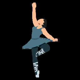 Dançarina de balé postura bailarina pointe sapato saia plana