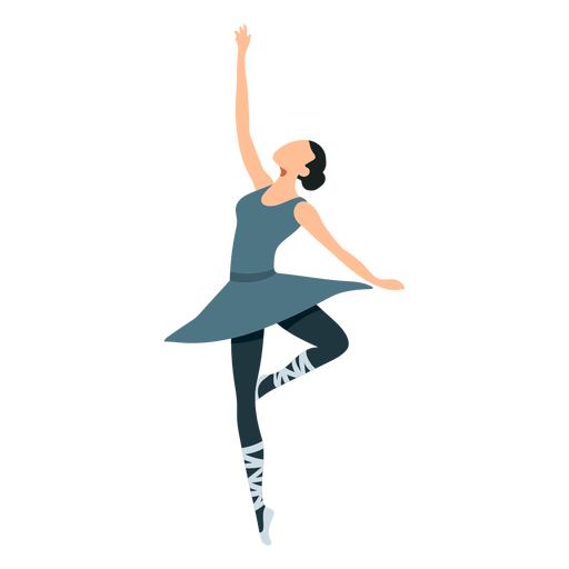 Bailarina de ballet postura bailarina pointe zapato falda plana Transparent PNG