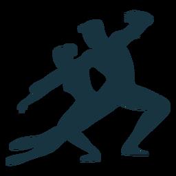 Silhueta de bailarina de postura de bailarino