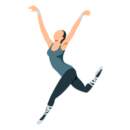 Ballet dancer posture ballerina tricot pointe shoe flat