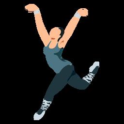 Dançarina de balé postura bailarina tricot sapatilha plana