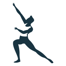 Silhueta detalhada de postura de dançarina de balé