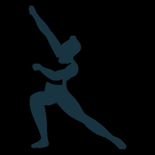 Silhueta detalhada de postura de dançarina de balé Transparent PNG