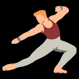 Postura de bailarina de ballet plana