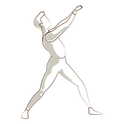 Ballet dancer posture leggins t shirt vector