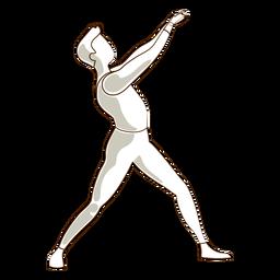 Dançarina de balé postura leggins camiseta vector