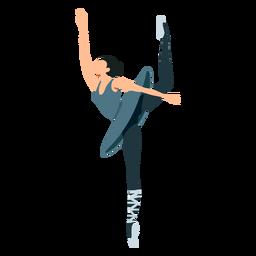 Postura de bailarina de ballet falda bailarina pointe zapato plano