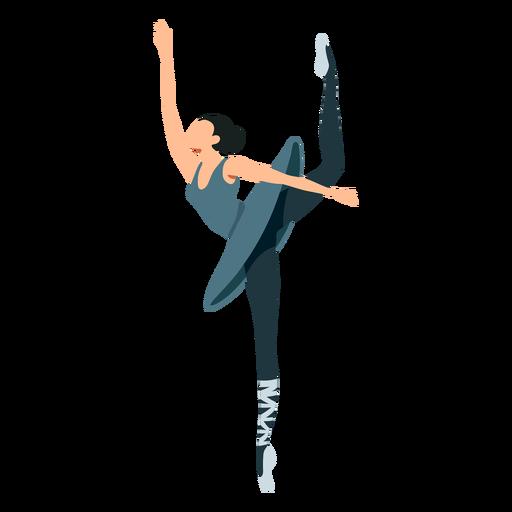 Ballet dancer posture skirt ballerina pointe shoe flat
