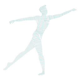 Ballet dancer posture striped silhouette