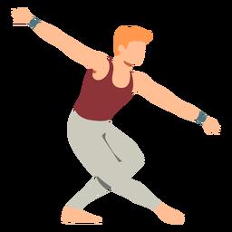 Balletttänzer-Haltungst-shirt leggins flach