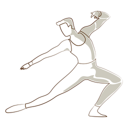Balletttänzer-Lage-T-Shirt leggins Vektor