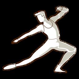 Dançarina de balé postura t shirt leggins vector