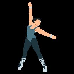 Bailarina de ballet postura tricot bailarina pointe zapato plano