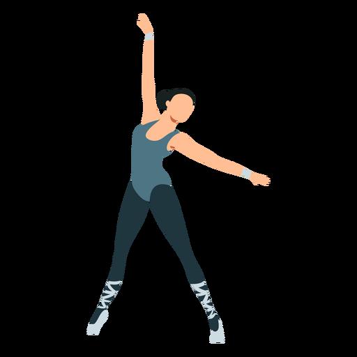 Ballet dancer posture tricot ballerina pointe shoe flat
