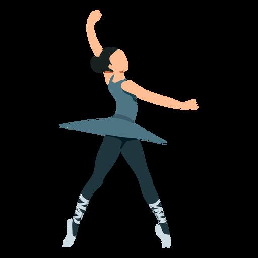 Bailarina saia postura bailarina sapatilha de ponta plana