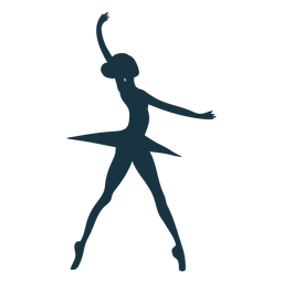 Ballet dancer skirt posture ballerina silhouette