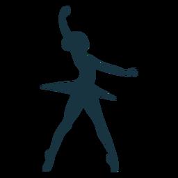 Silhueta de bailarina postura saia bailarina