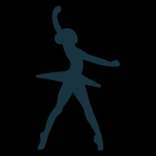 Silhueta de bailarina postura saia bailarina Transparent PNG
