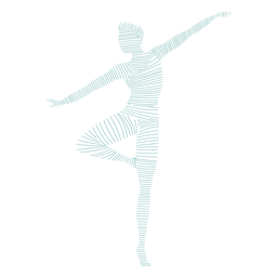 Ballet dancing striped silhouette