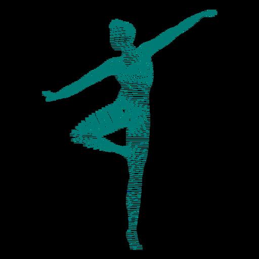Baile de ballet a rayas silueta Transparent PNG