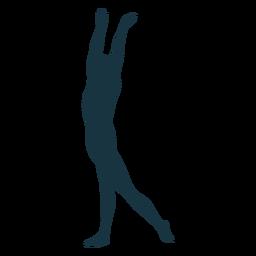 Silhueta de postura de balé