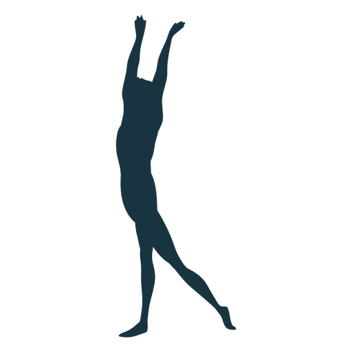 Silhueta de postura de balé Transparent PNG