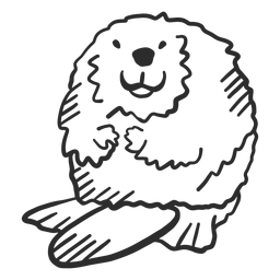 Doodle de rabo de roedor cauda castor