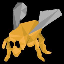 Asa de perna de vespa de abelha baixo poli