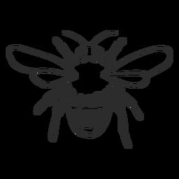 Doodle de asa de listra de vespa de abelha