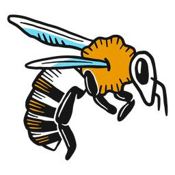 Bee wing leg wasp sketch