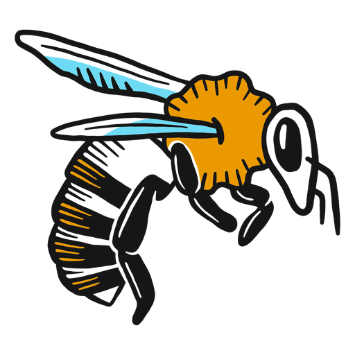 Bee wing leg wasp sketch Transparent PNG