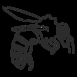 Doodle de listra de vespa de asa de abelha