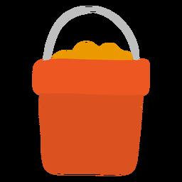 Areia de alça de balde plana