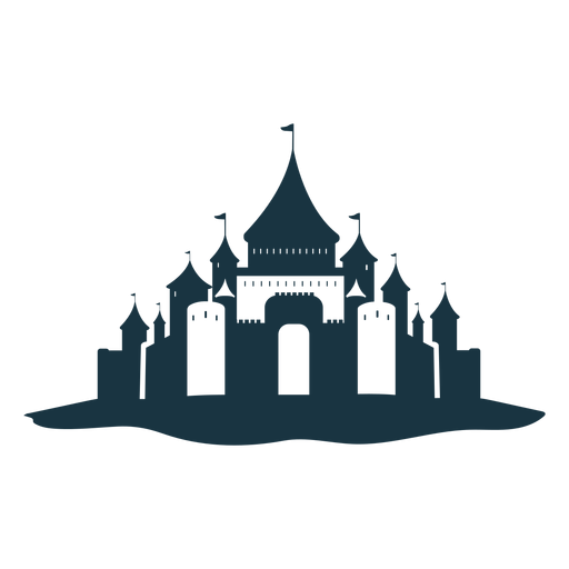 Castillo palacio torre puerta techo cúpula silueta detallada