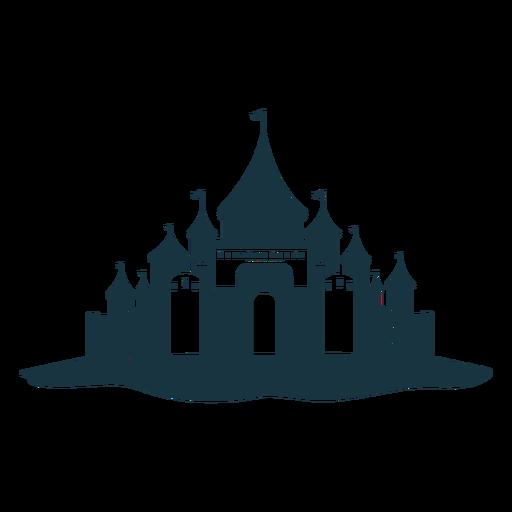 Silhueta detalhada da cúpula do telhado da torre do palácio do castelo