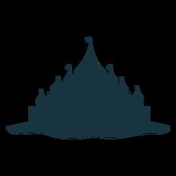 Castelo de torre torre portão telhado cúpula silhueta